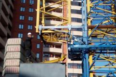 Монтаж башенного крана КБ 515